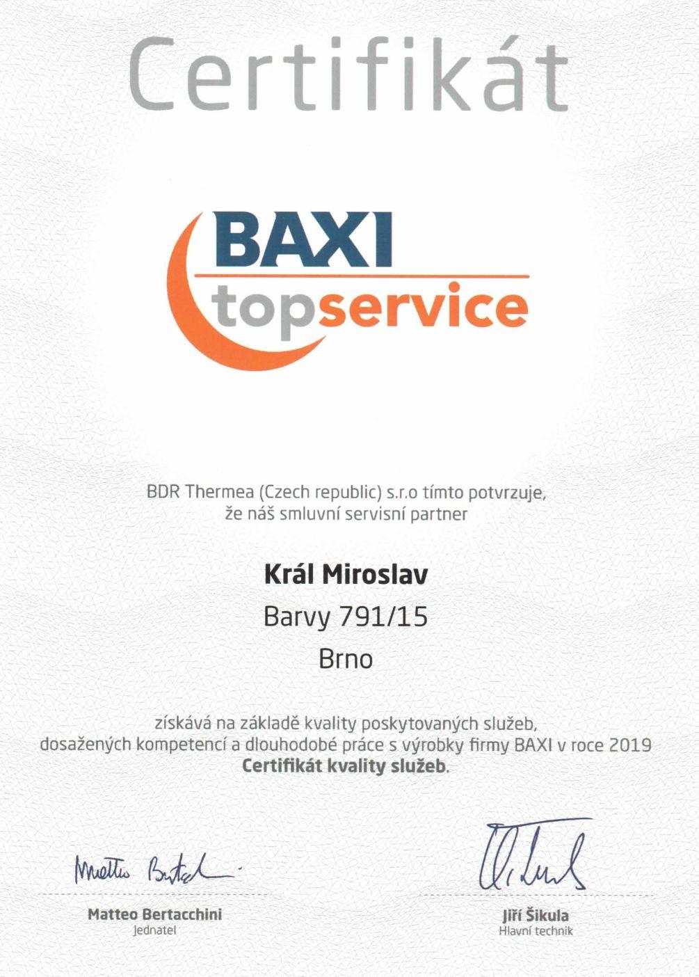 BAXI Top Service