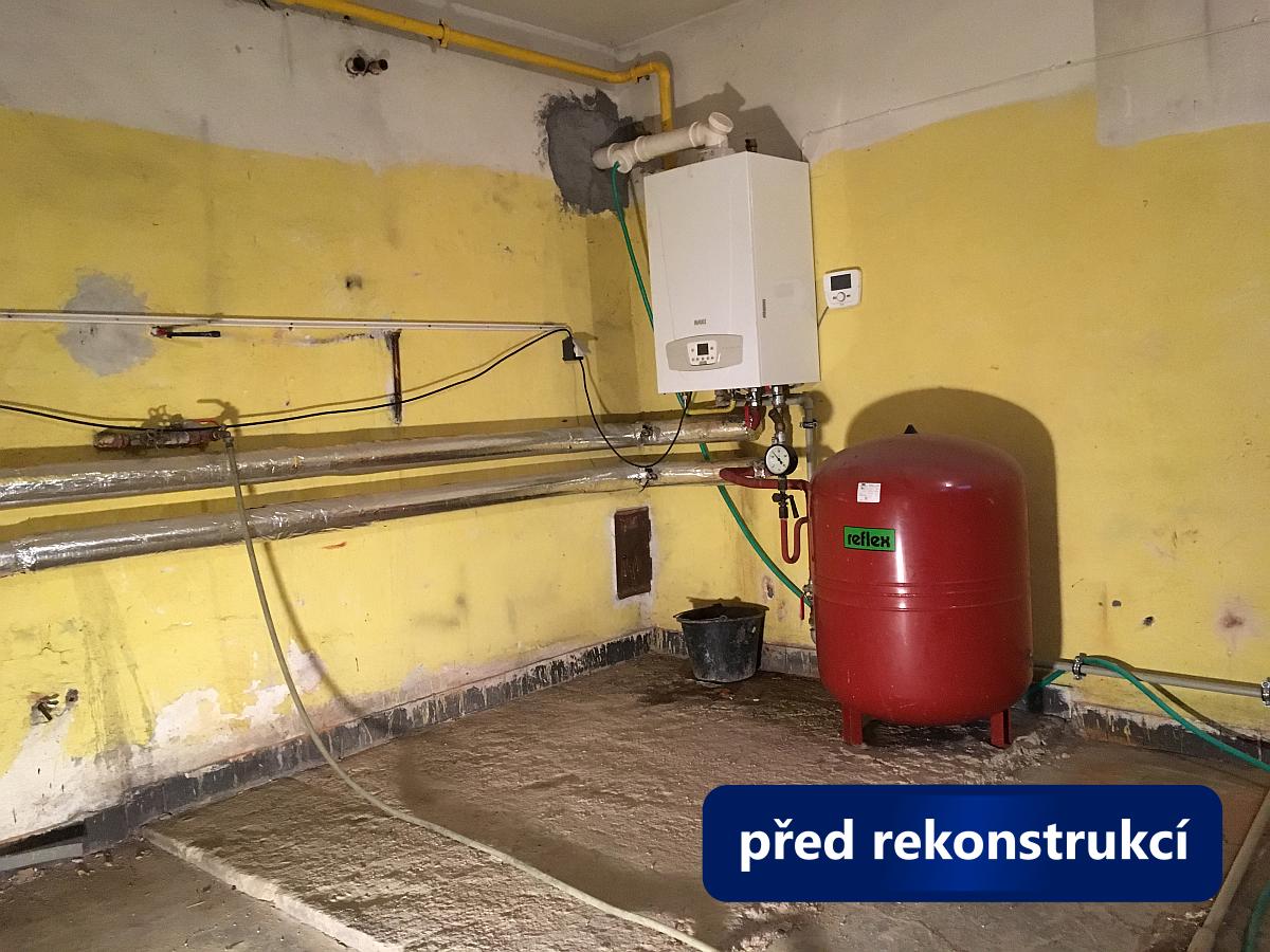 Oprava kotelny Brno, Matonohova - stav před